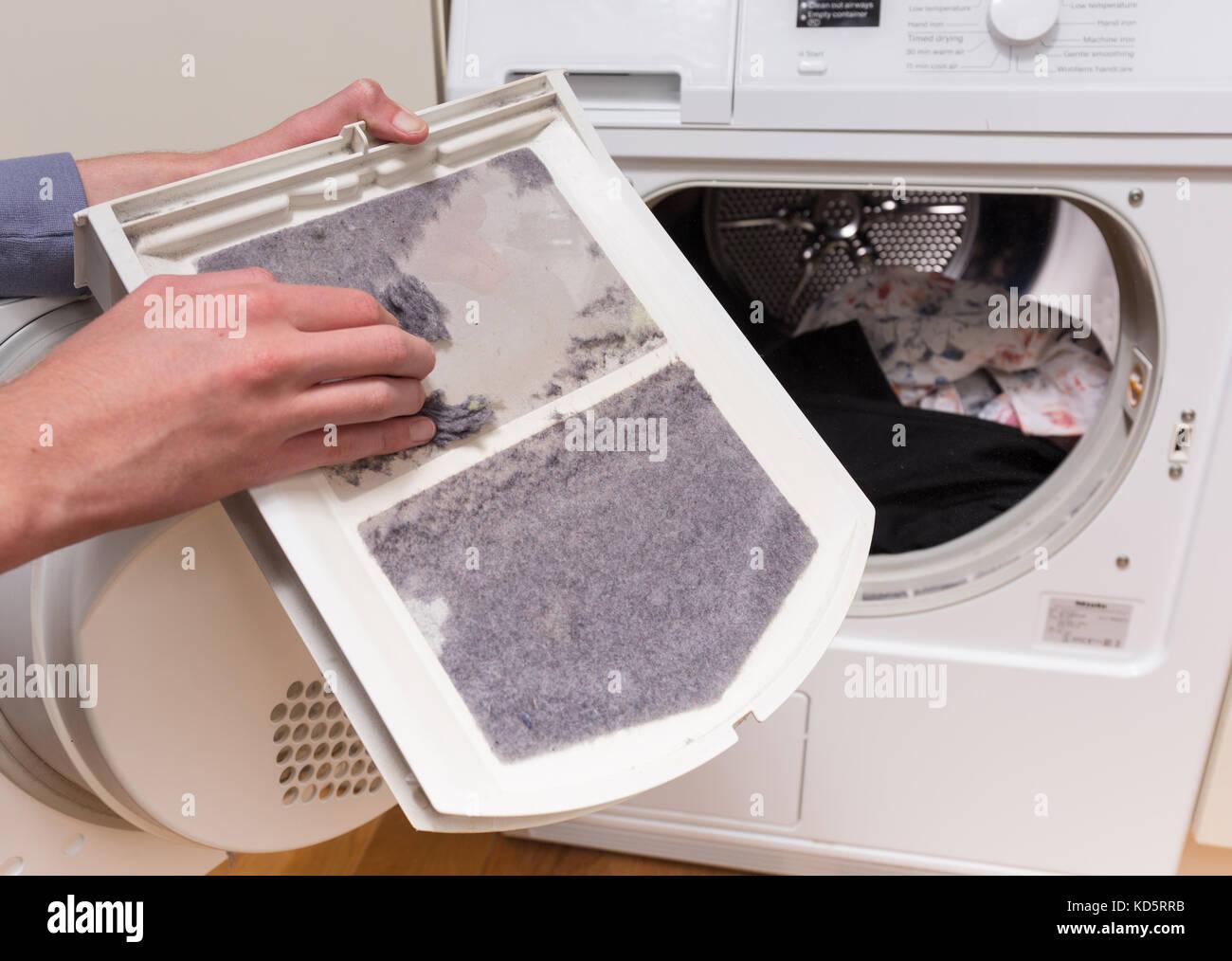 Tumble Dryer Filter ~ Tumble dryer stock photos images alamy