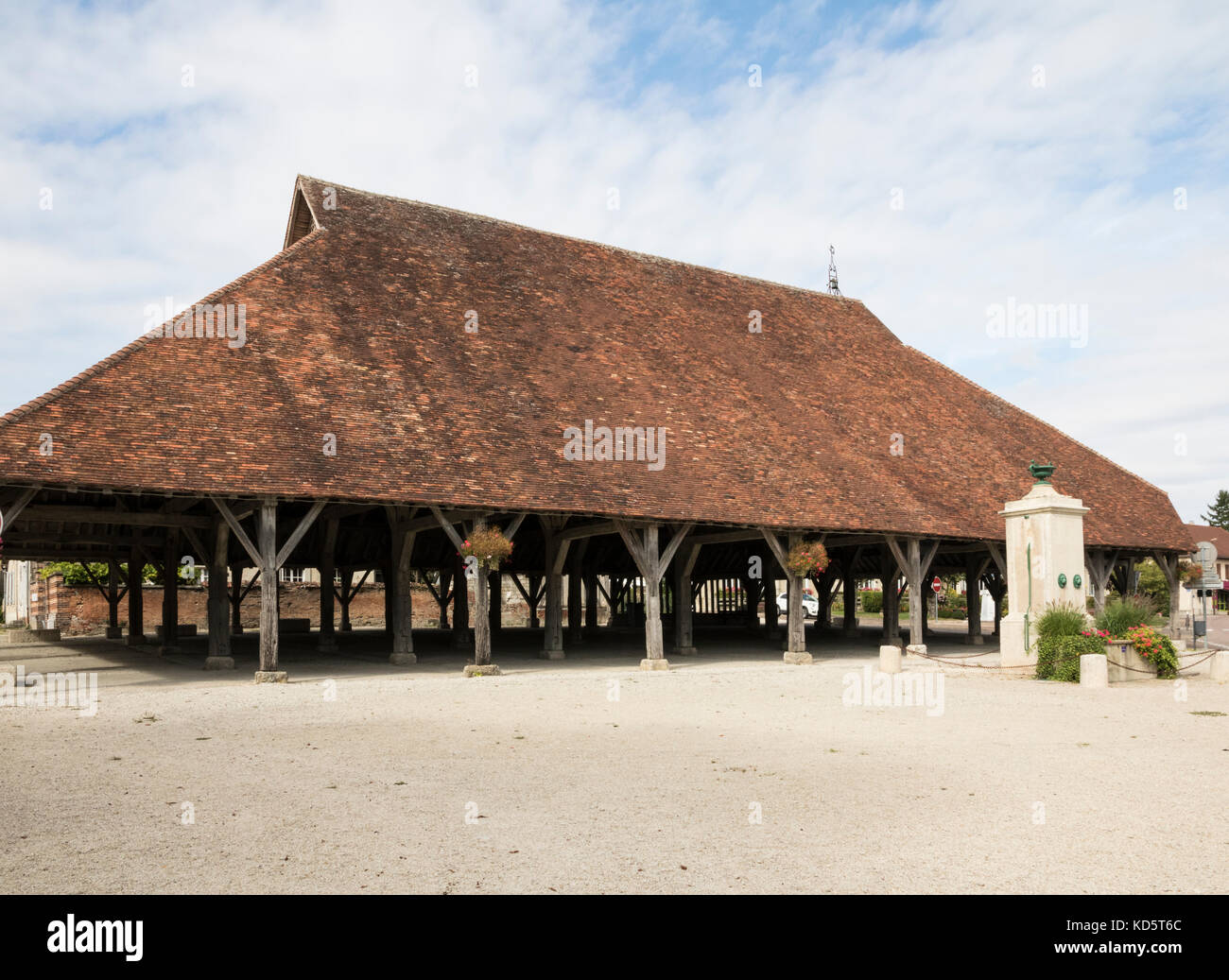 Market Hall in Piney, near Troyes, Champagne Region, France Stock Photo