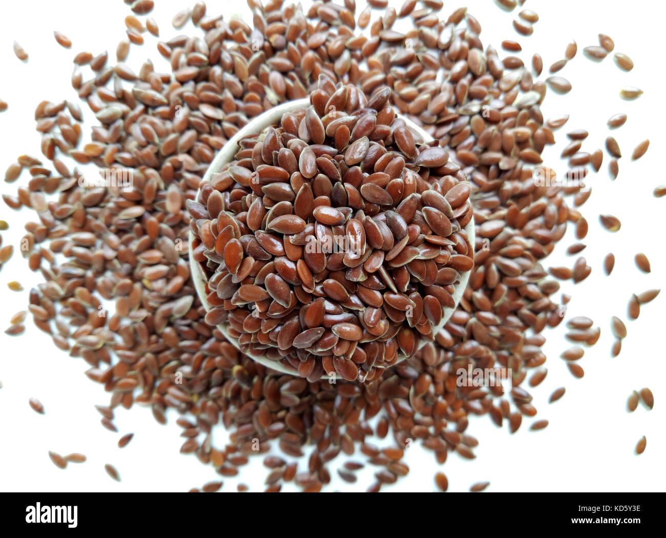 Flax Seeds - Stock Image