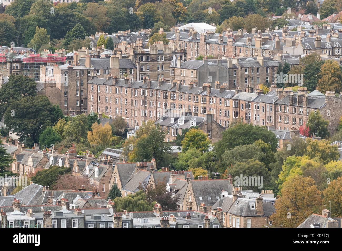 Edinburgh tenement buildings,  Morningside, Edinburgh, Scotland, UK - Stock Image