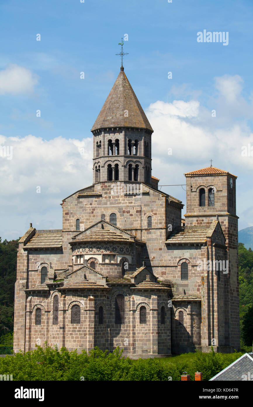 Saint Nectaire Central France Village In Auvergne With
