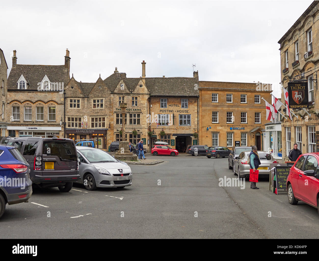 Cotswolds Stow on the Wold market square Stock Photo
