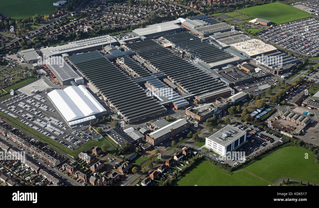 aerial view of Bentley Motors car plant at Crewe, Chehsire, UK - Stock Image