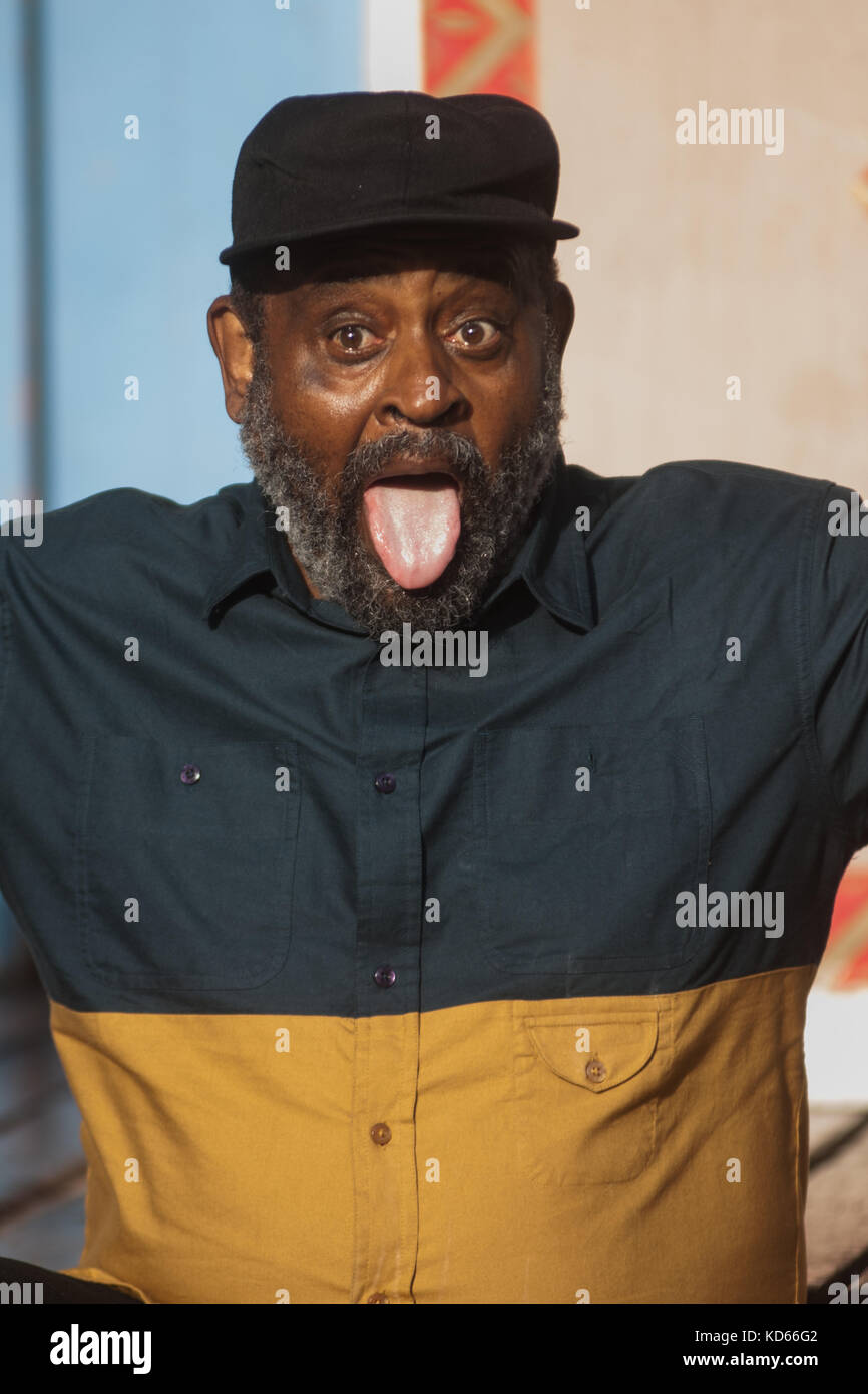 Umar Bin Hassan of the Last Poets attends a photocall during the Edinburgh International Book Festival on August, - Stock Image