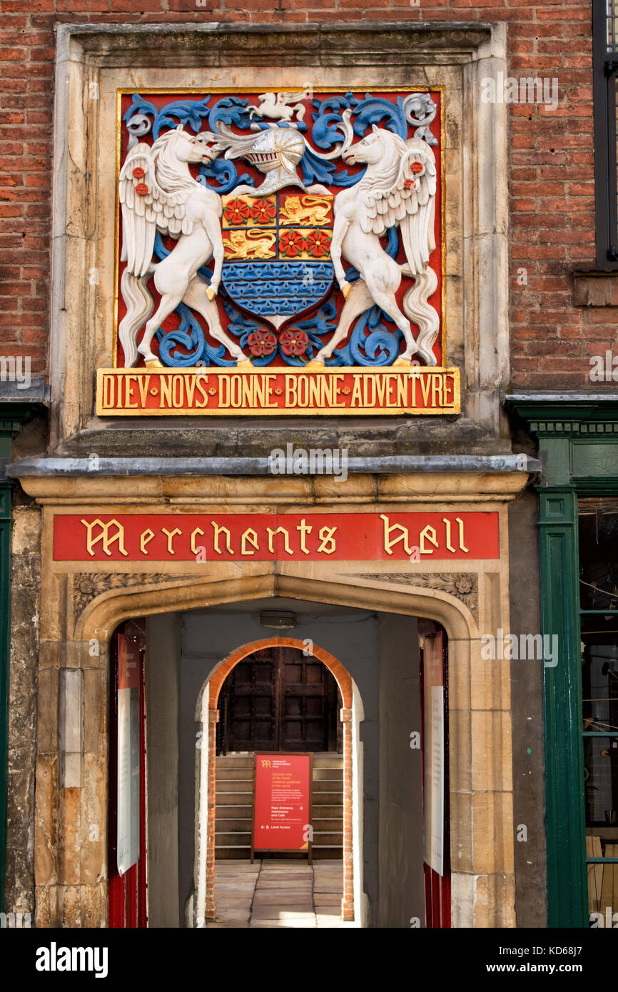 Merchant Adventurers' Hall,Fossgate,York,North Yorkshire,England,UK. - Stock Image