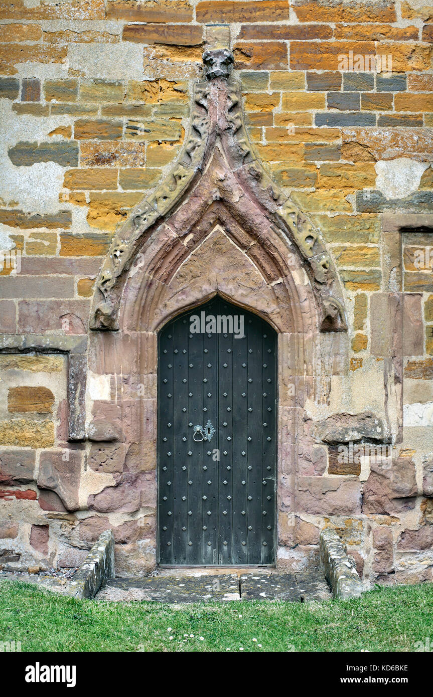 Pointed Ogee Arch Over A Medieval Priests Doorway With Eroded Crocketed Hood St