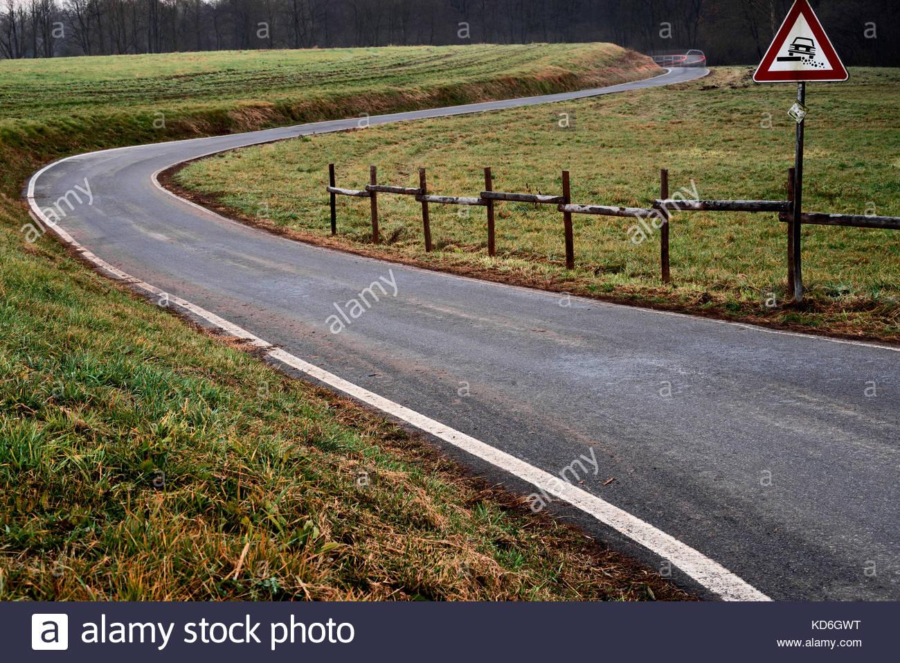 Dangerous car driving - Stock Image