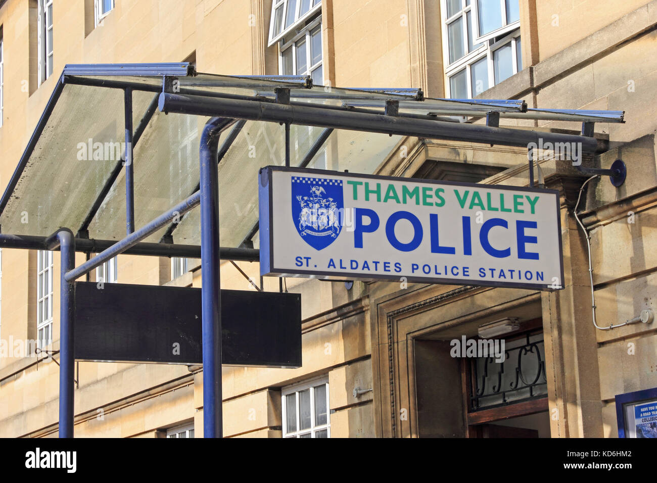 St Aldates Police Station sign, Oxford - Stock Image
