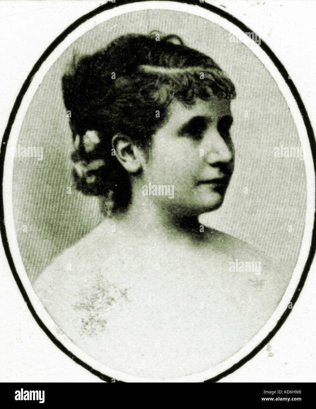 Adèle Isaac in 1878, interpreter of  the role of Marguerite in Berlioz 's legende dramatique 'La damnation - Stock Image