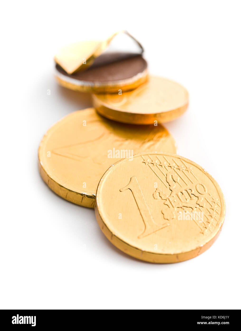 Chocolate money stock photos chocolate money stock images alamy chocolate coins isolated on white background stock image spiritdancerdesigns Image collections