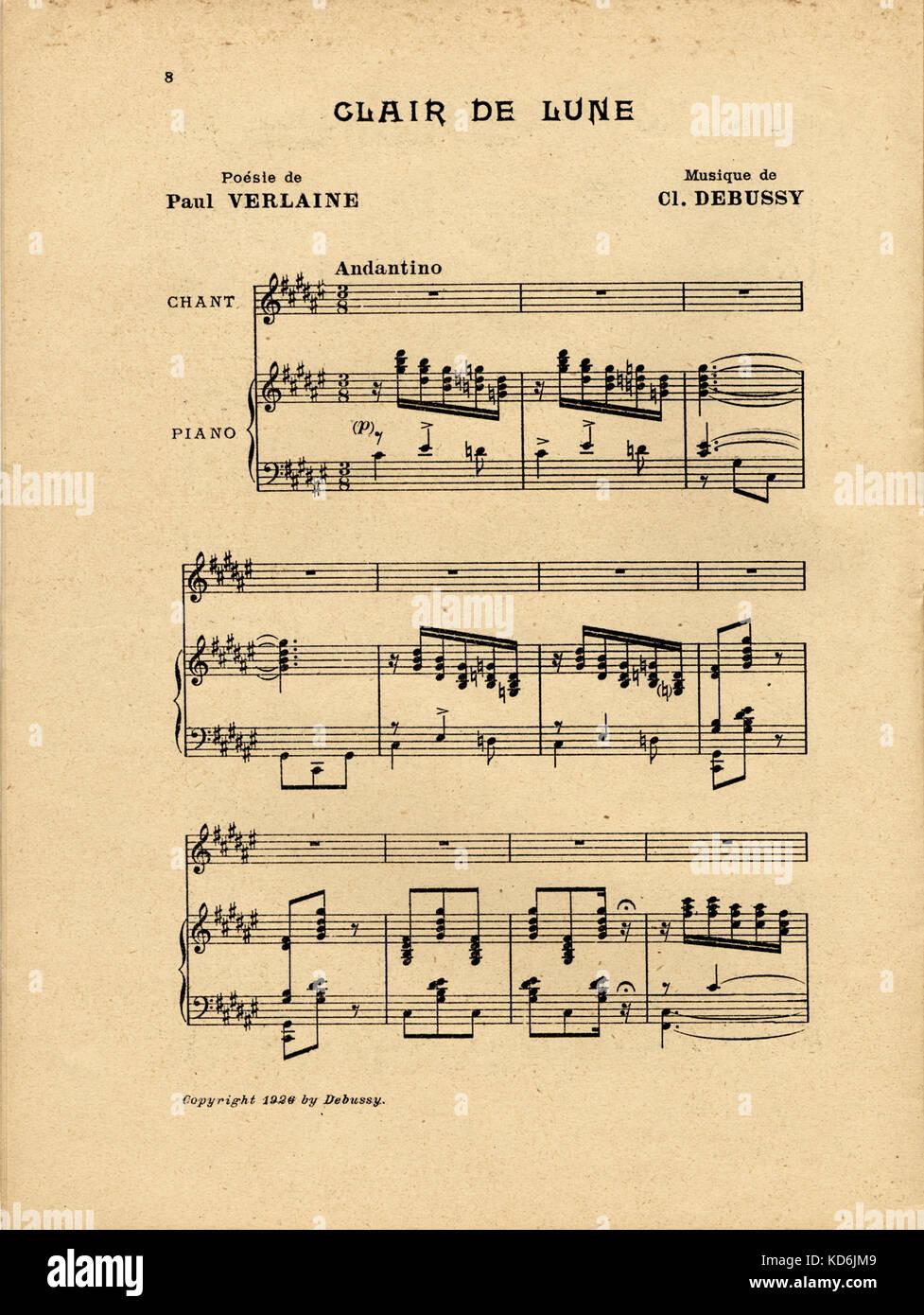 Clair De Lune Debussy