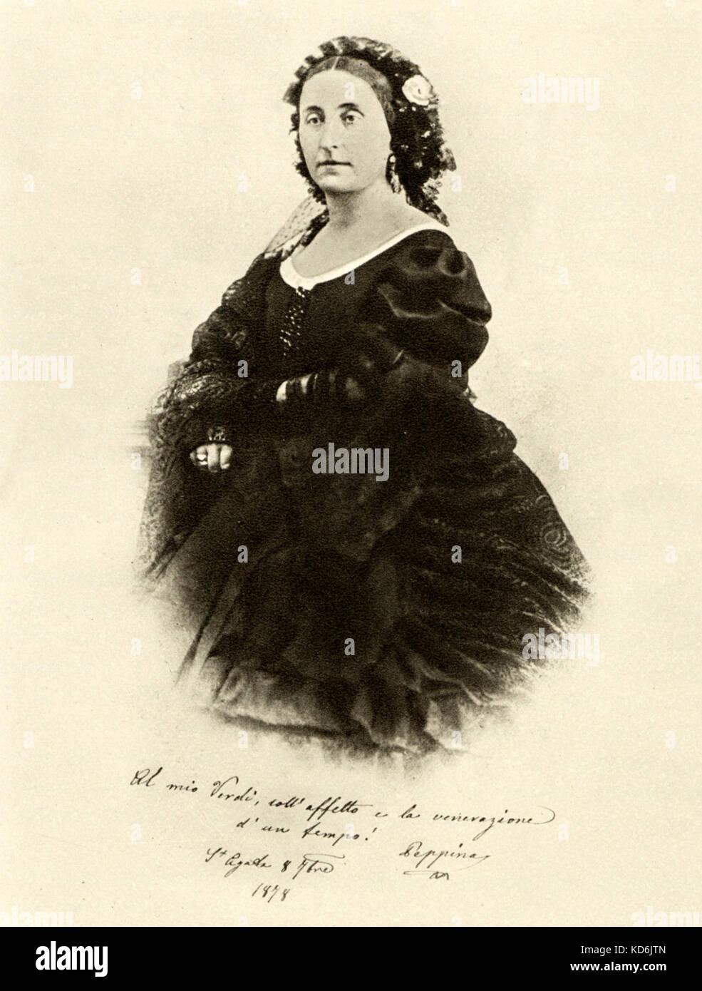 Giuseppina Verdi (née Strepponi)  Portrait she gave as a