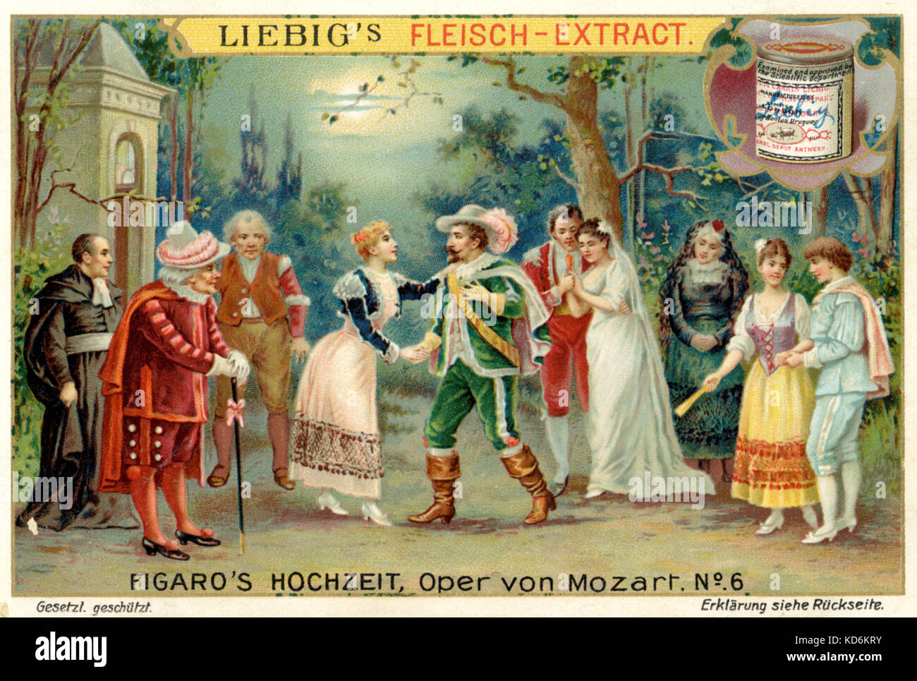 Wolfgang amadeus mozart opera nozze di figaro marriage of figaro illustration to act i in the garden finale with susanna countess count figaro