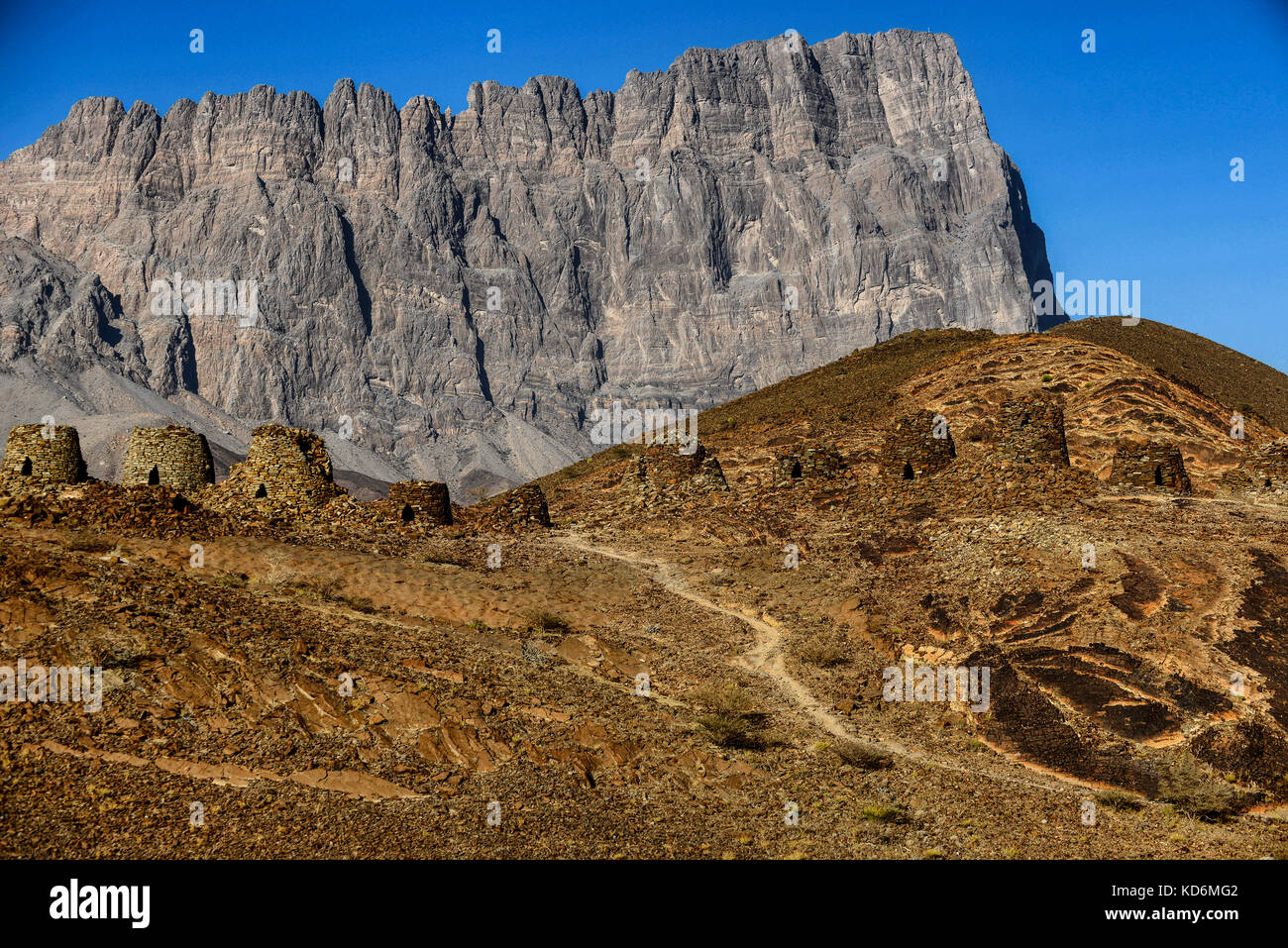 The Beehve tombs at Jabal Misht, Sultanate of Oman. - Stock Image