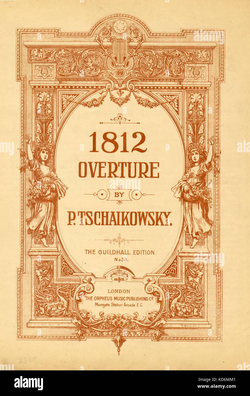 Tchaikovsky, Piotr I  1812 Overture Opus 49- title page