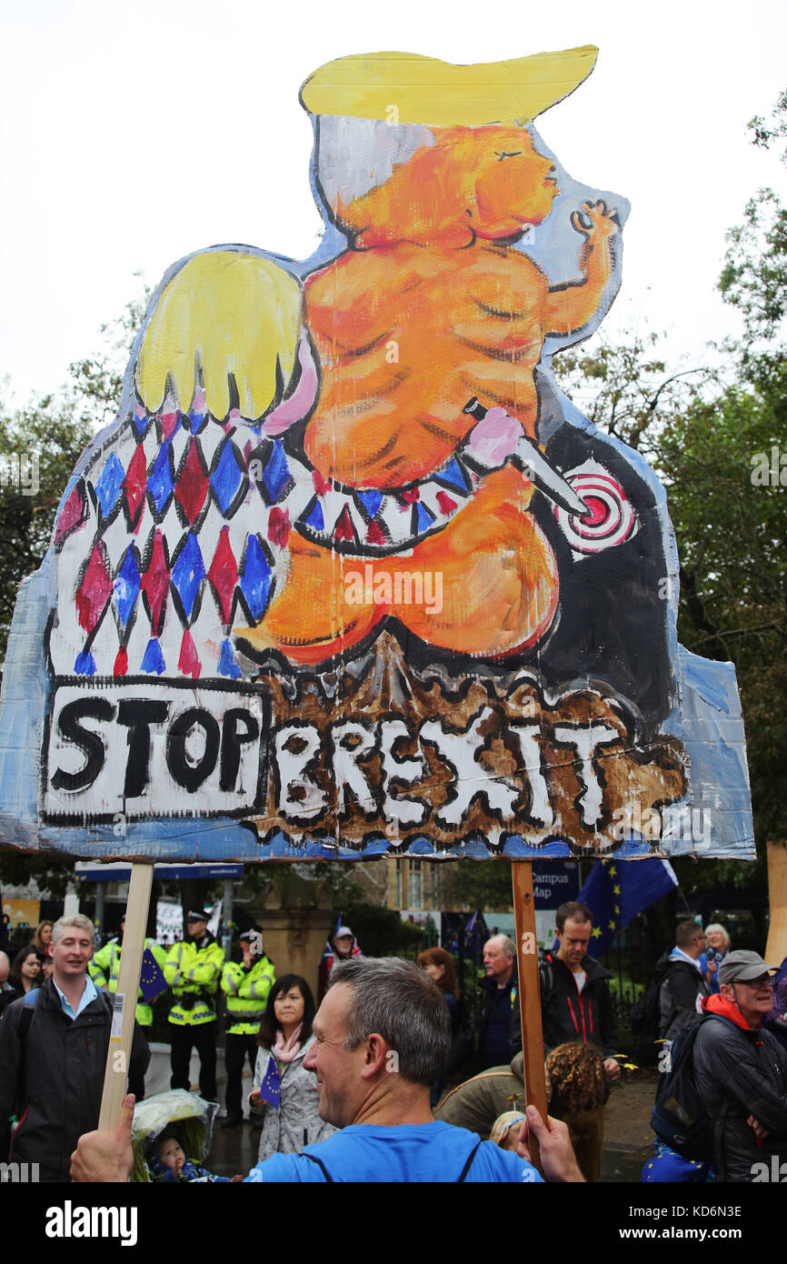 Stop Brexit placard at Manchester #StopBrexit demo Stock Photo