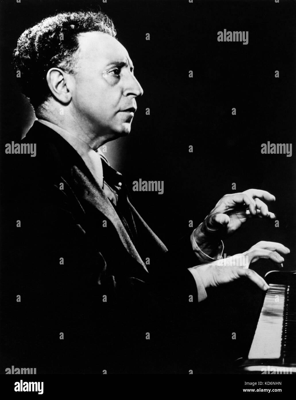 Arthur Rubinstein at piano  Polish American born pianist