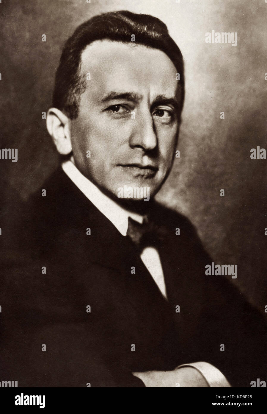 Leo Blech - portrait photograph postcard.  German opera conductor and composer. 21 April 1871 - 25 August 1958 - Stock Image