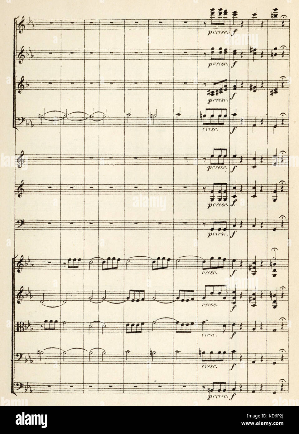 5Th Symphony beethoven 5th symphony - opening bars of printed score for