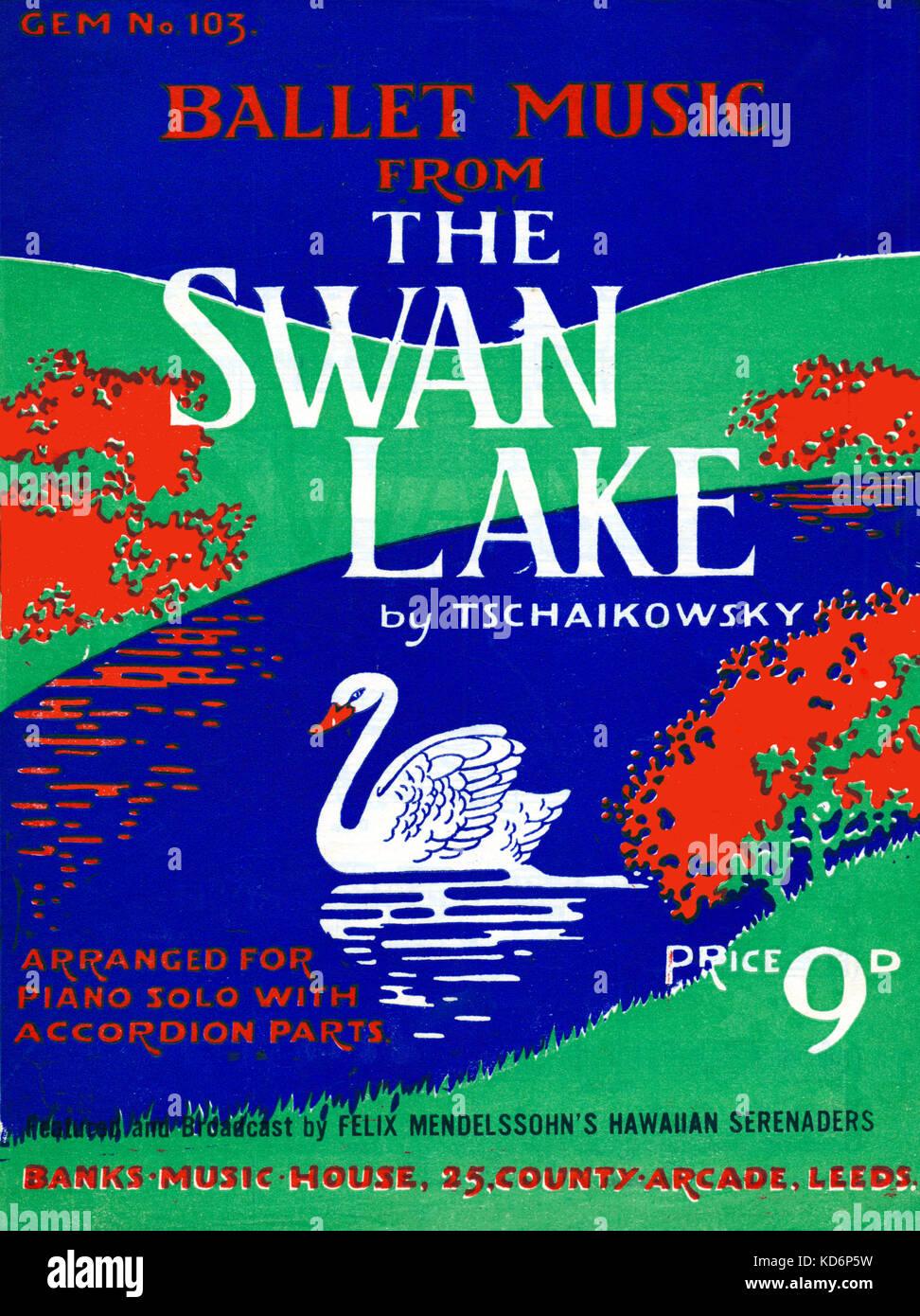 Swan Lake Music Score Stock Photos & Swan Lake Music Score Stock