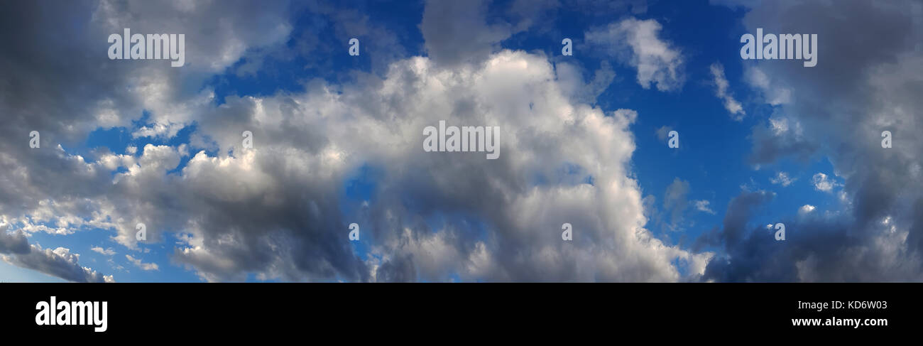 Overcast Skyscape Cloudy Panorama Background - Stock Image