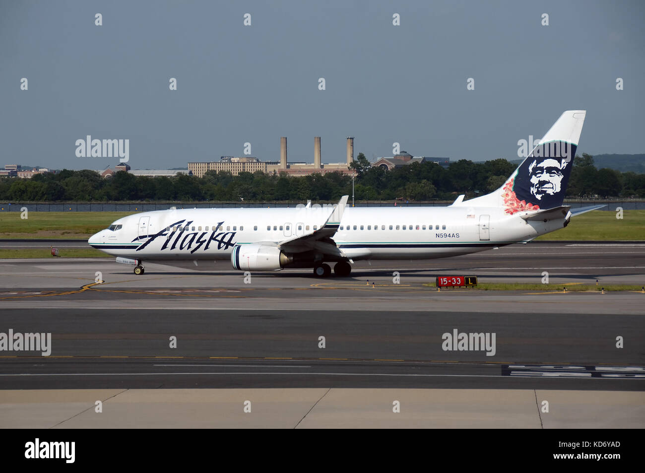 Alaska airlines stock photos alaska airlines stock images alamy washington dc usa may 30 2013 alaska airlines boeing 737 jet arrives buycottarizona Choice Image