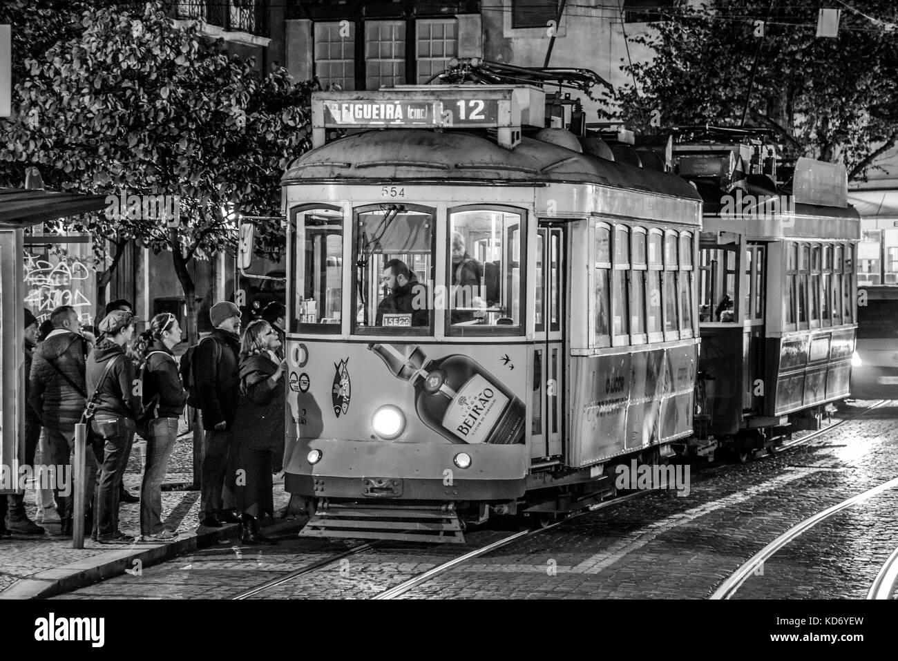 tram 28 in Lisbon - Stock Image