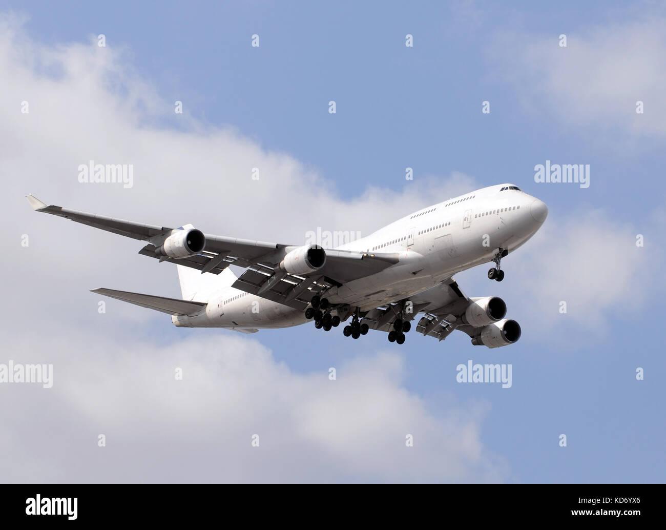 Heavy wodebody passenger jet for long distance travel - Stock Image