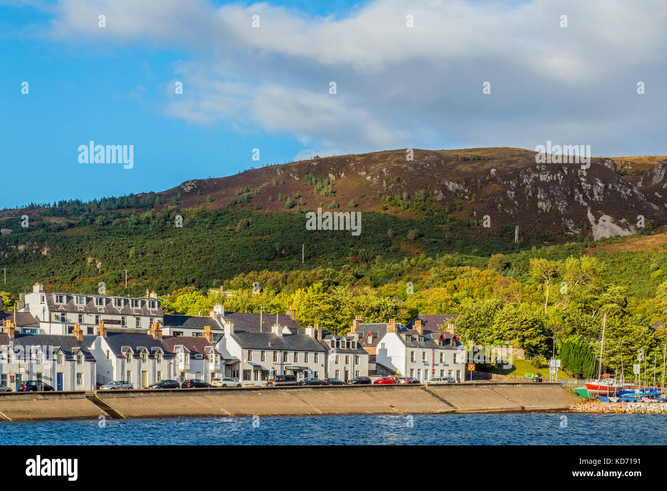 Ullapool Front on Loch Broom, Scottish Highlands - Stock Image