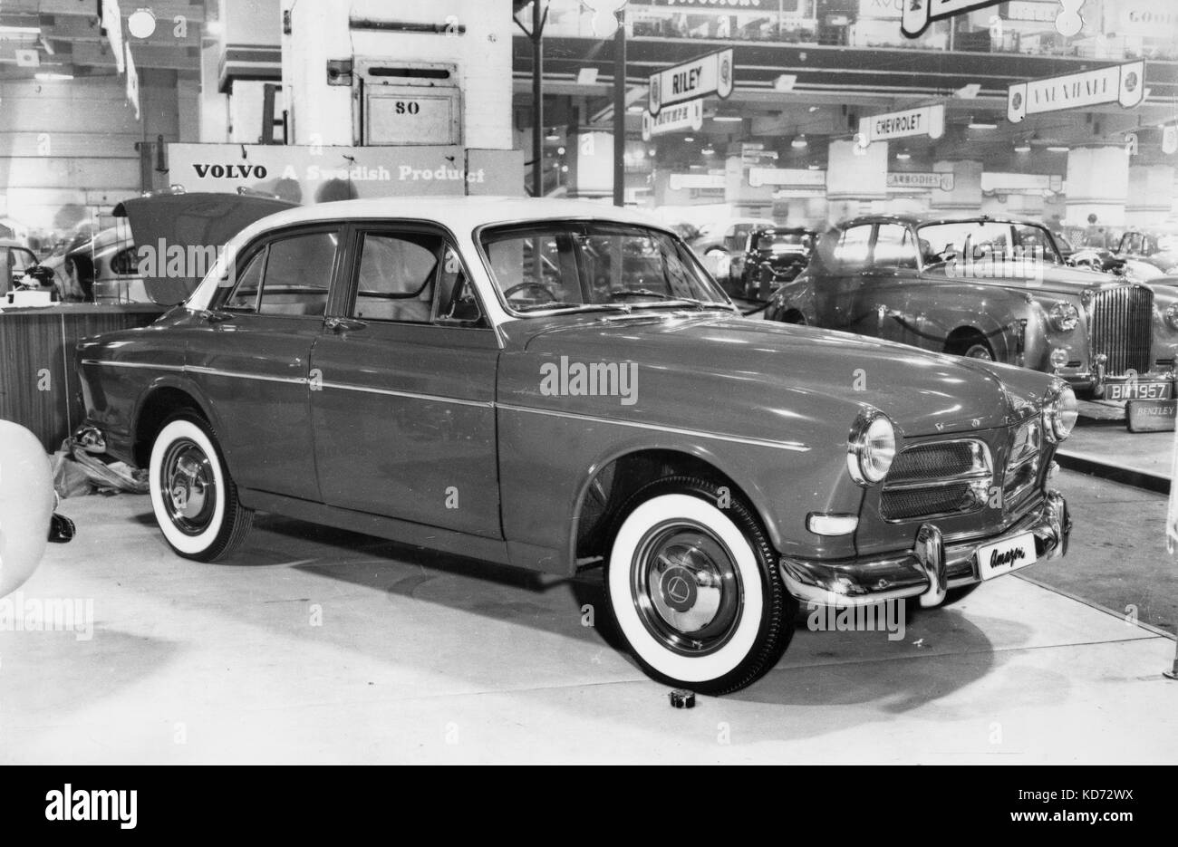 1956 Volvo 120 Amazon at motorshow - Stock Image