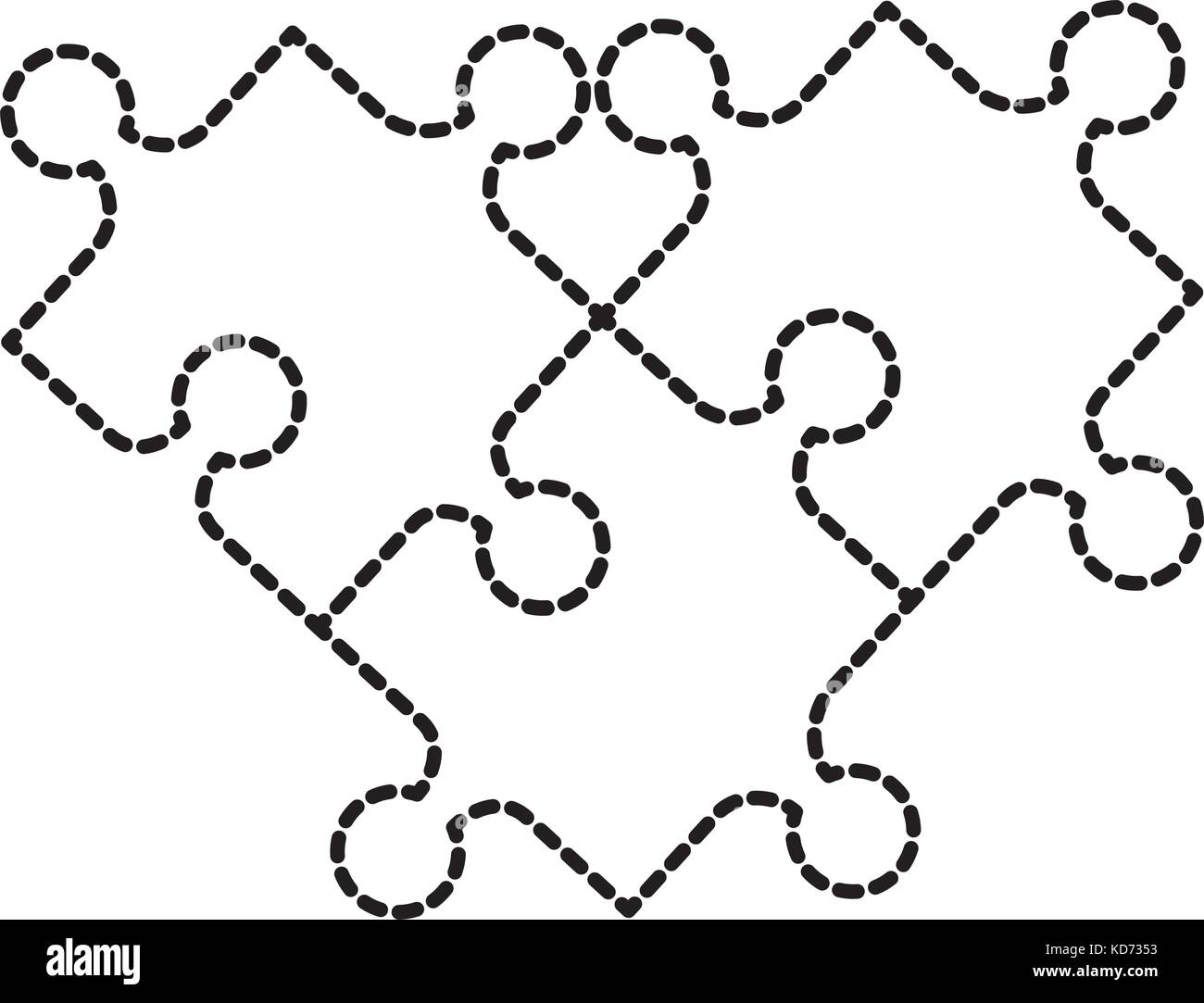 puzzle jigsaw toy pieces connection game Stock Vector