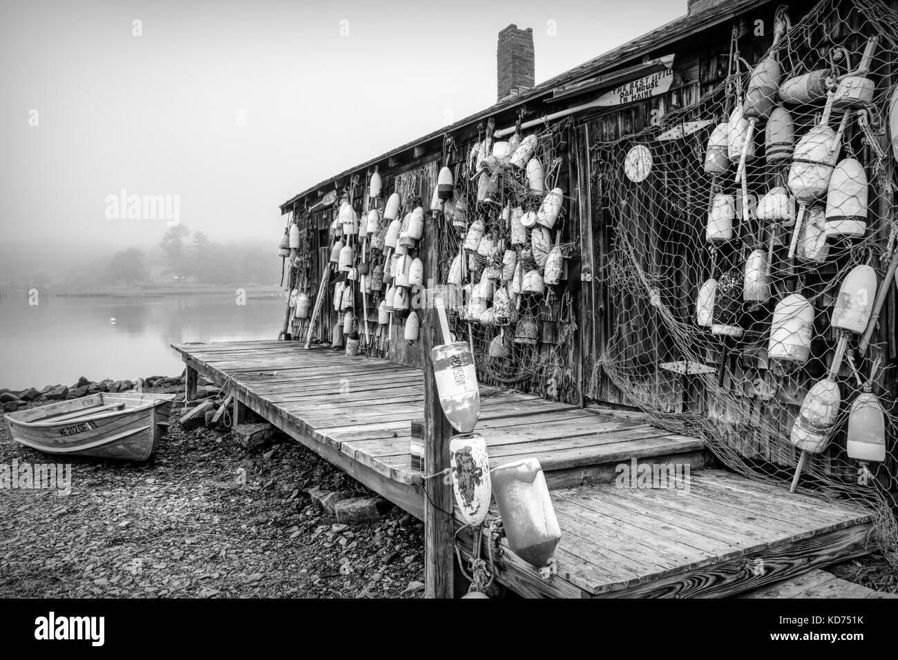 Cape Neddick Lobster Pound, York, Maine - Stock Image