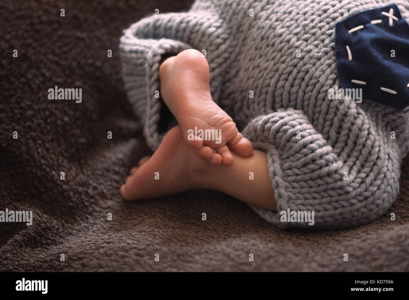 The heels of the newborn - Stock Image