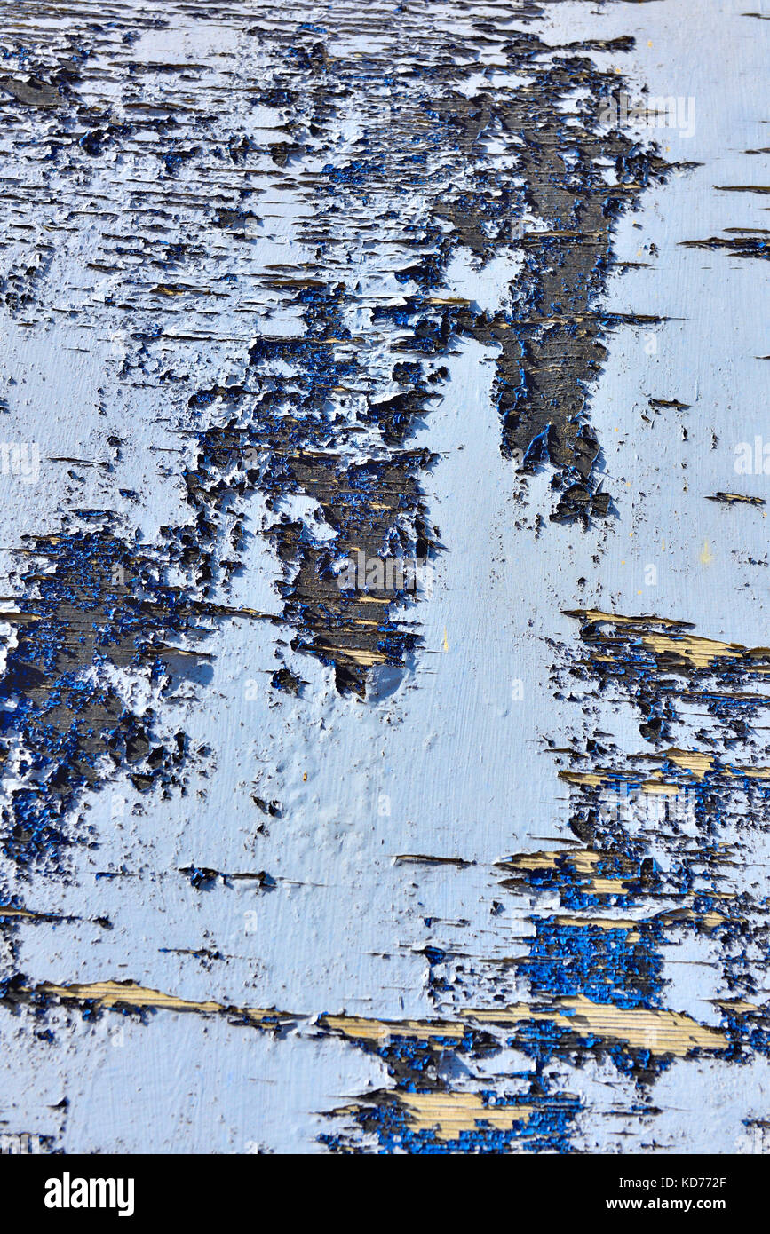 Blue, abstract, pealing paint Stock Photo