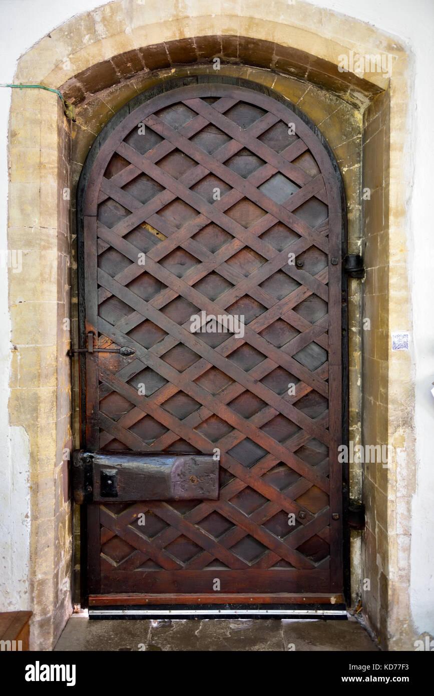Old Heavy Wooden Door   Stock Image