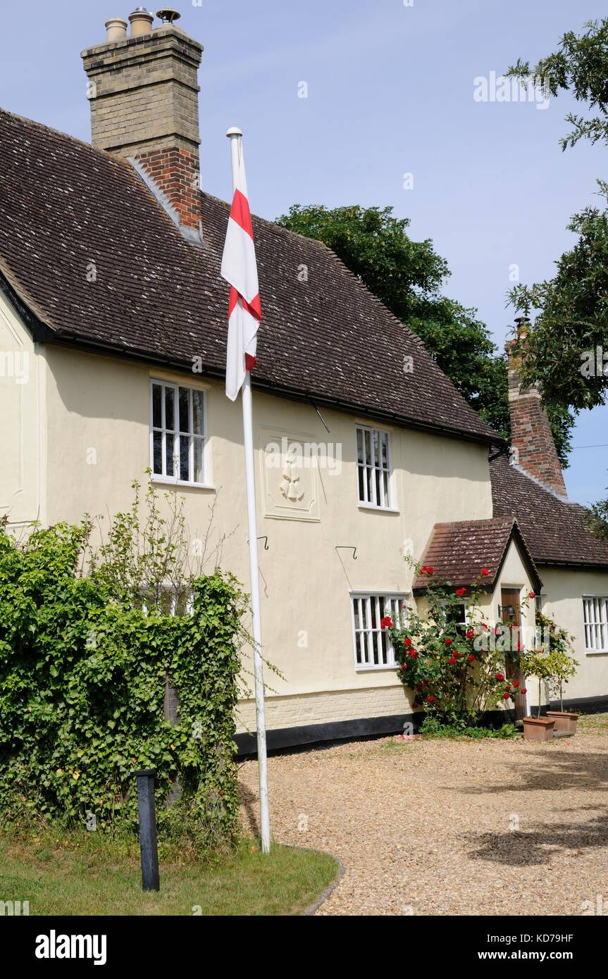 The Bells, Guilden Morden, Cambridgeshire,was  formerly an inn. C18 with C19 and C20 alterations. The building was - Stock Image