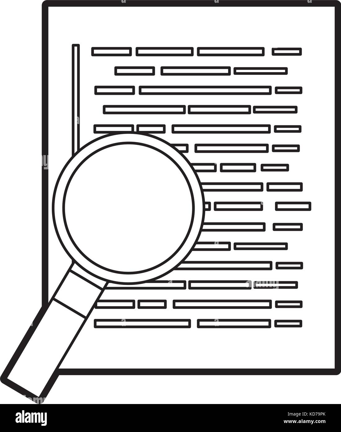 document web page magnifier developer language - Stock Image
