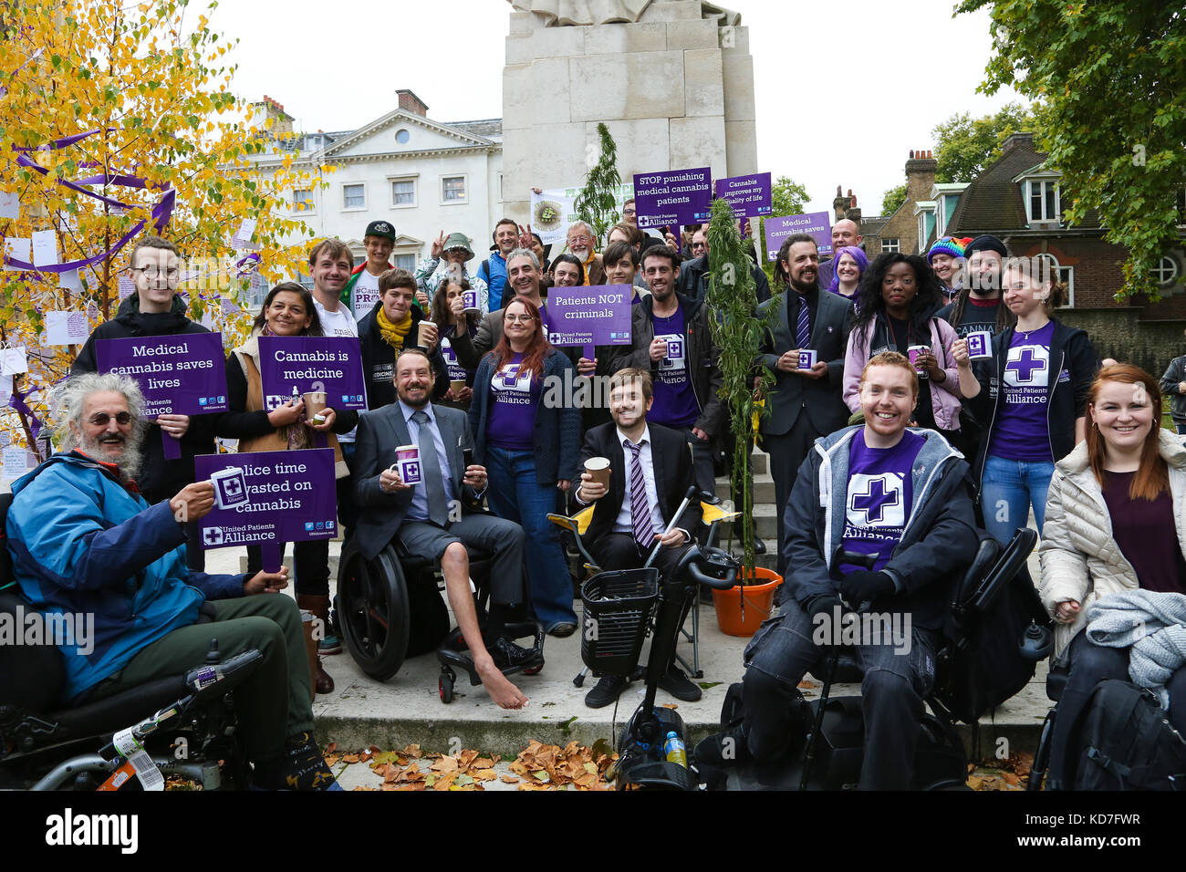 Westminster. London, UK. 10th October, 2017. The protest organised by United Patients Alliance (UPA) inviting members Stock Photo