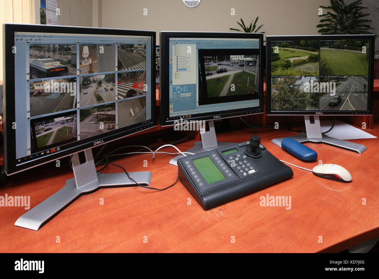Gdynia, Poland. 10th Oct, 2017. Video surveillance center of the Gdynia City Guard is seen in Gdynia, Poland, on Stock Photo