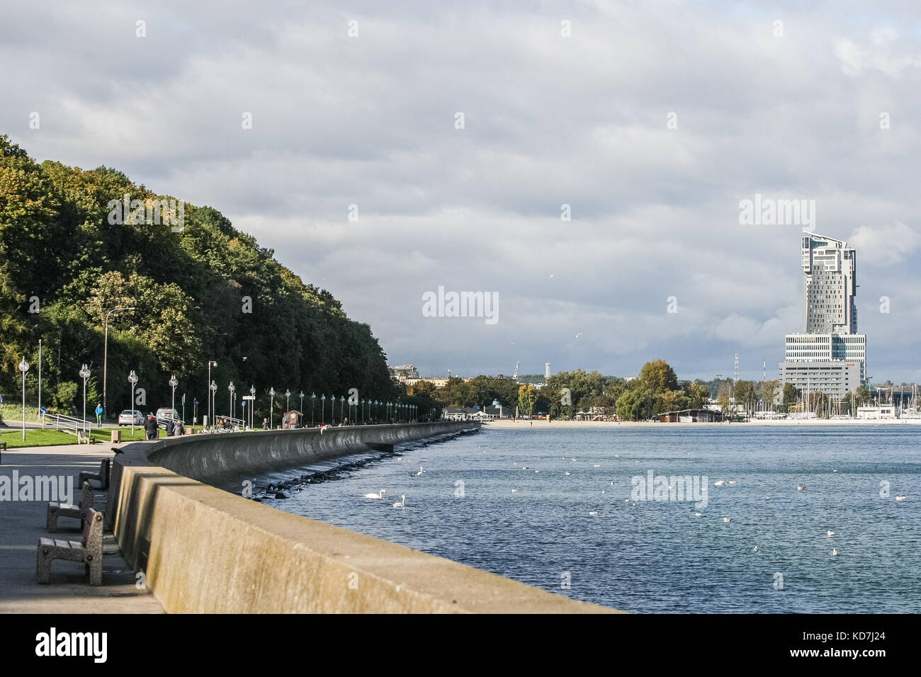 Gdynia, Poland. 10th Oct, 2017. CCTV camera on the Seafront Boulevard (Bulwar Nadmorski) is seen in Gdynia, Poland, Stock Photo