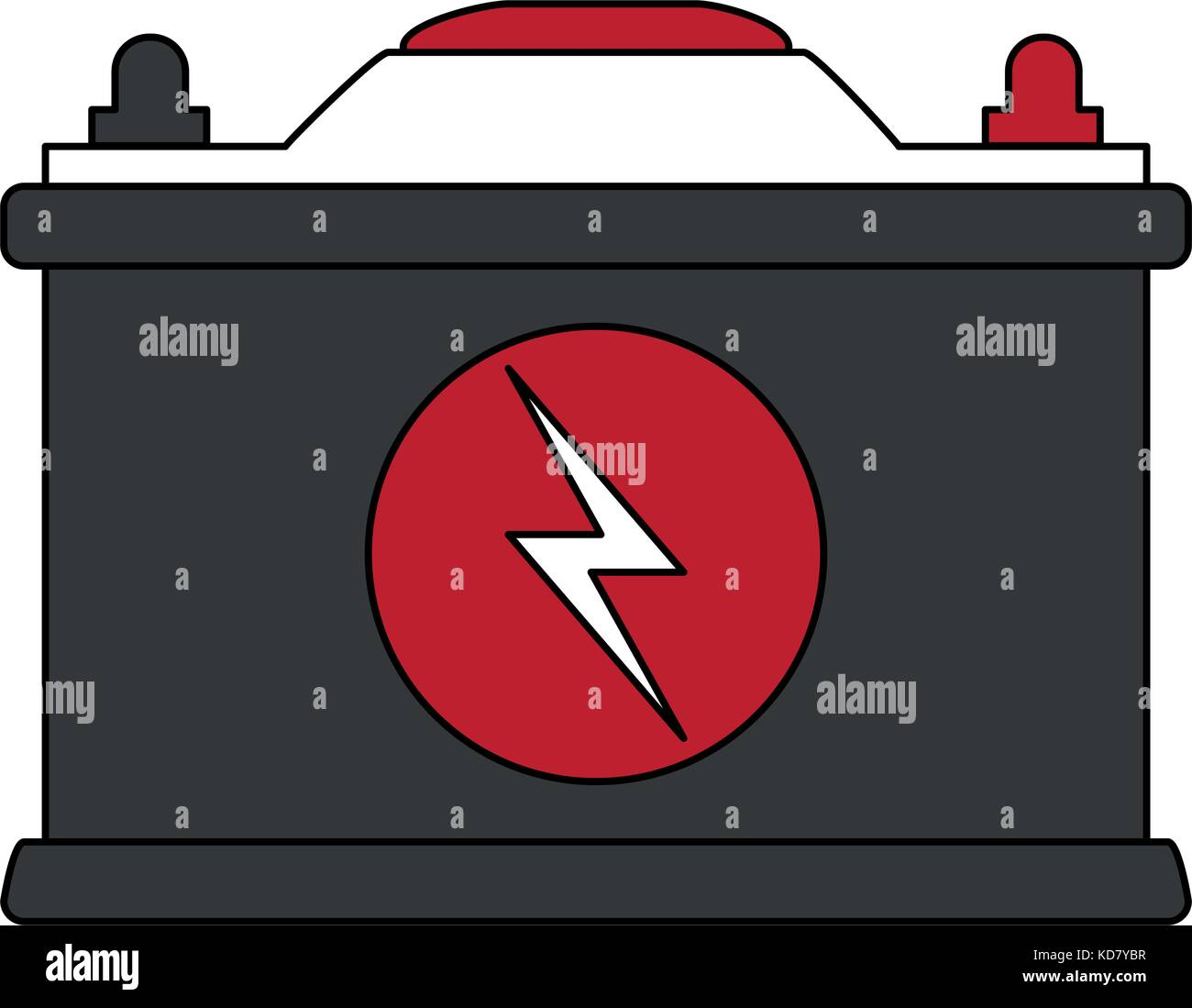 Car Battery Icon Image Vector Illustration Graphic Design Stock