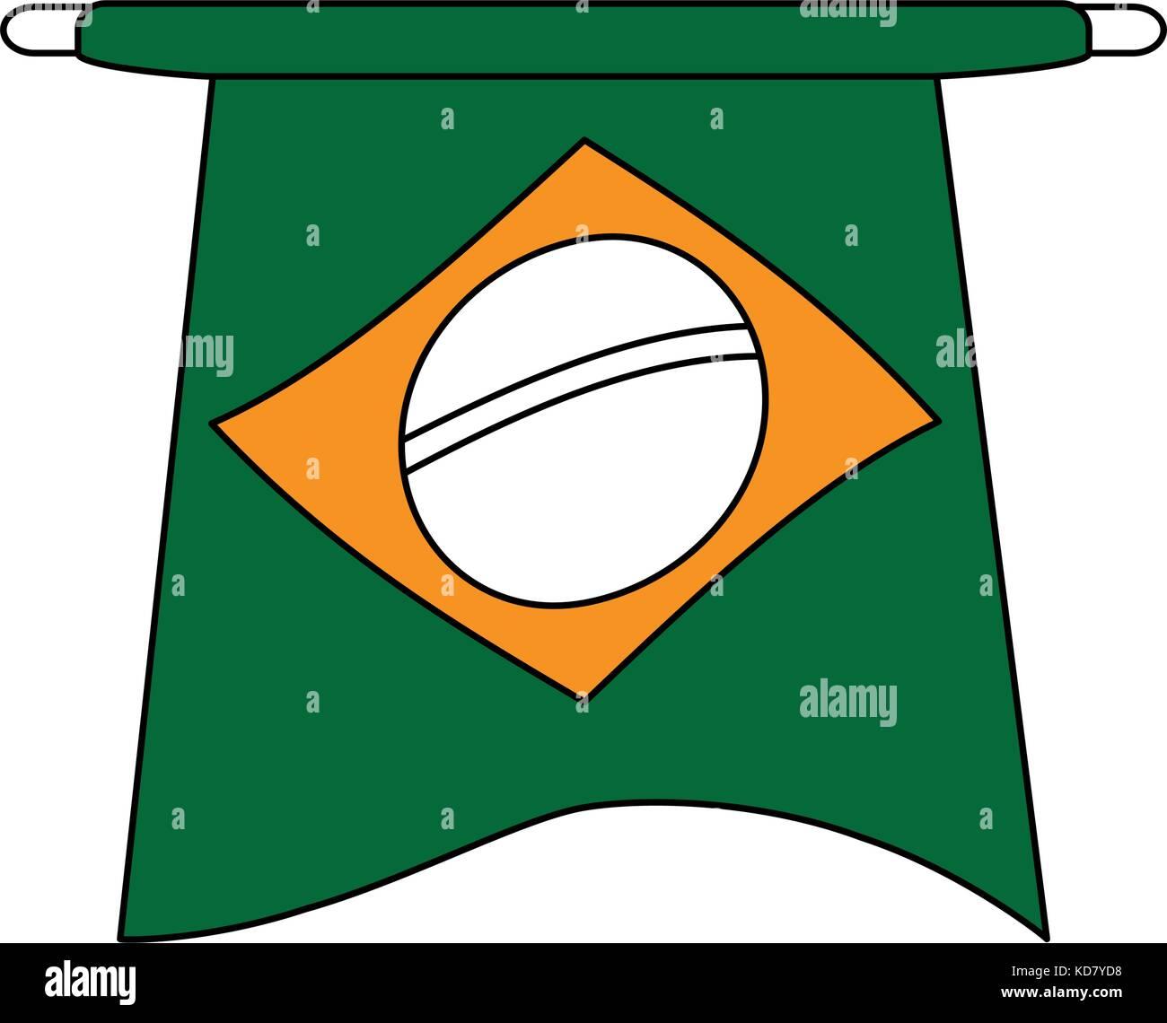 Brazil flag symbol - Stock Image