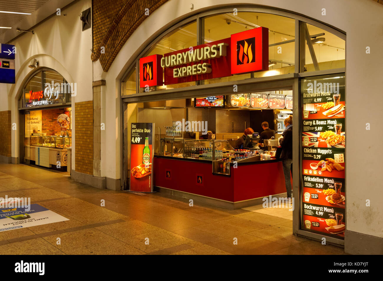 8eada4e360c Currywurst Express takeaway at Alexanderplatz station in Berlin, Germany -  Stock Image