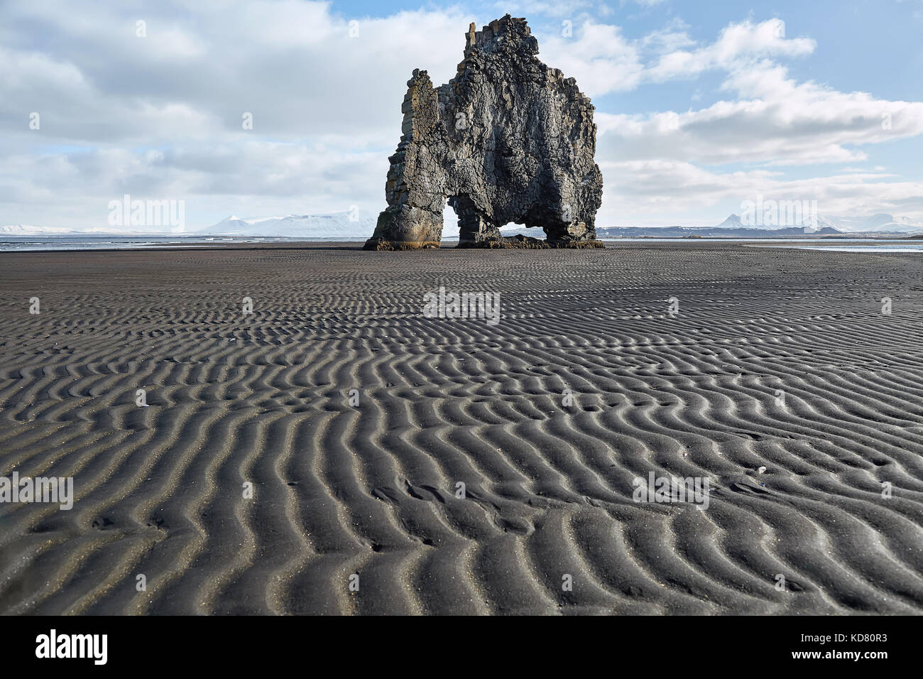 Hvitserkur basalt formation Stock Photo