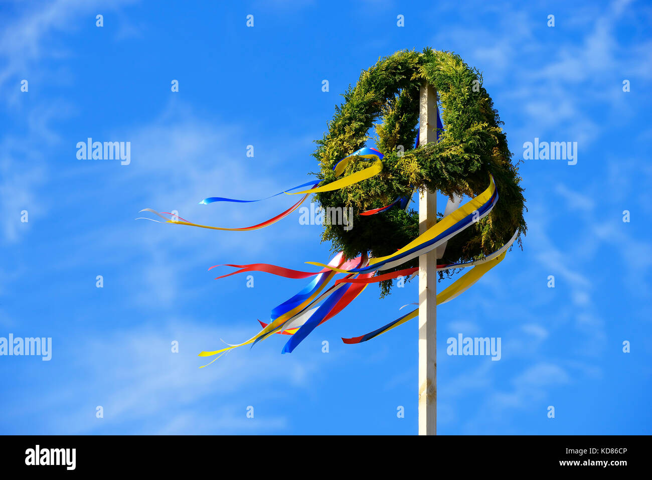 Topping-out wreath - Stock Image