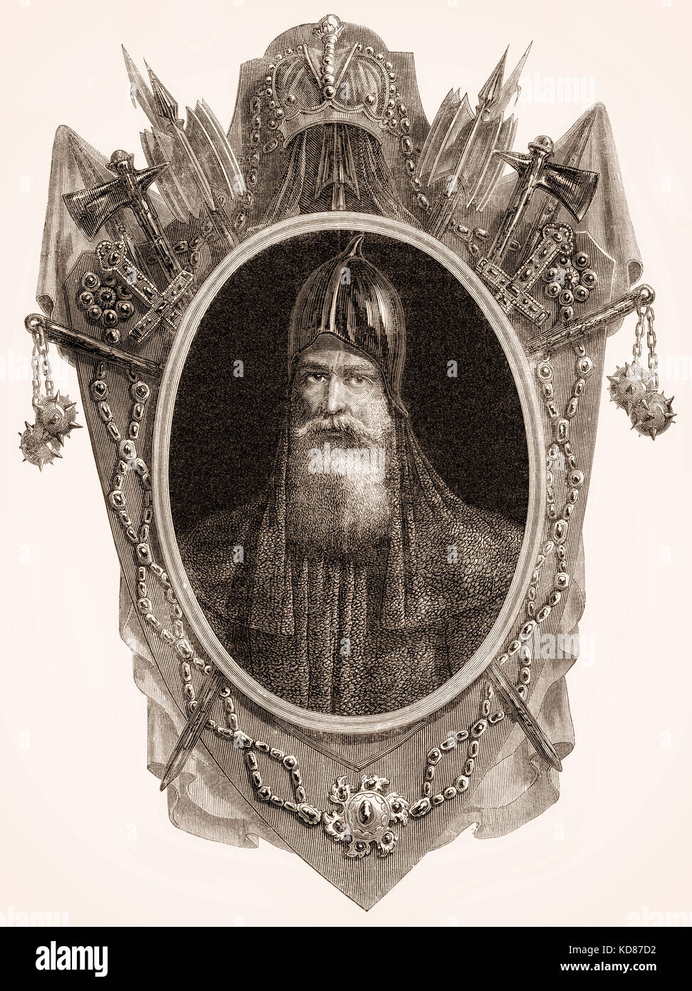 Igor I, a Varangian ruler of Kievan Rus' from 912 to 945 - Stock Image