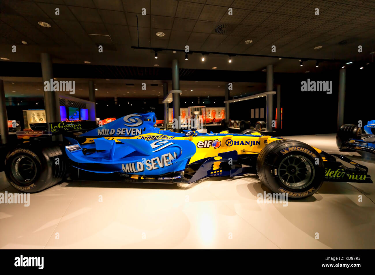 Renault R25 of F1 with which Fernando Alonso was world champion for the first time in 2005. Photograph taken on - Stock Image
