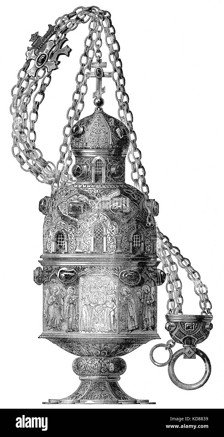 The thurible of the L'abbazia di Montecassino, Italy - Stock Image