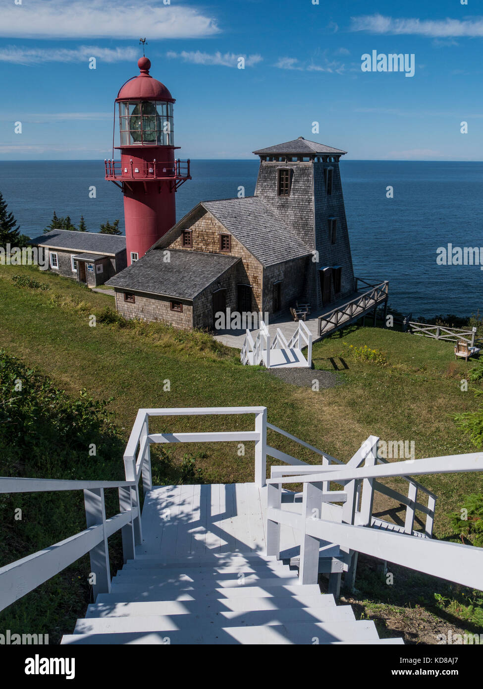 Lighthouse, Pointe a la Renommee, Gaspe, Quebec, Canada. - Stock Image