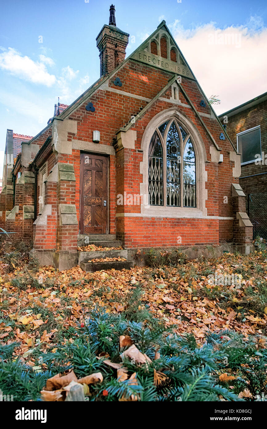 St Pancras Coroner's Court and Mortuary, the first custom built Coroner's Court in the UK, build in 1888 - Stock Image